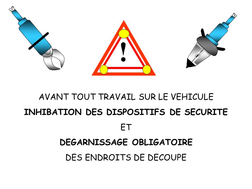 INHIBATION DES DISPOSITIFS DE SECURITE