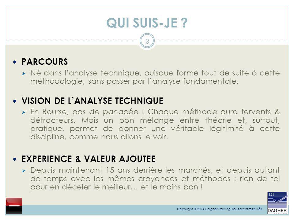 QUI SUIS-JE PARCOURS VISION DE L'ANALYSE TECHNIQUE