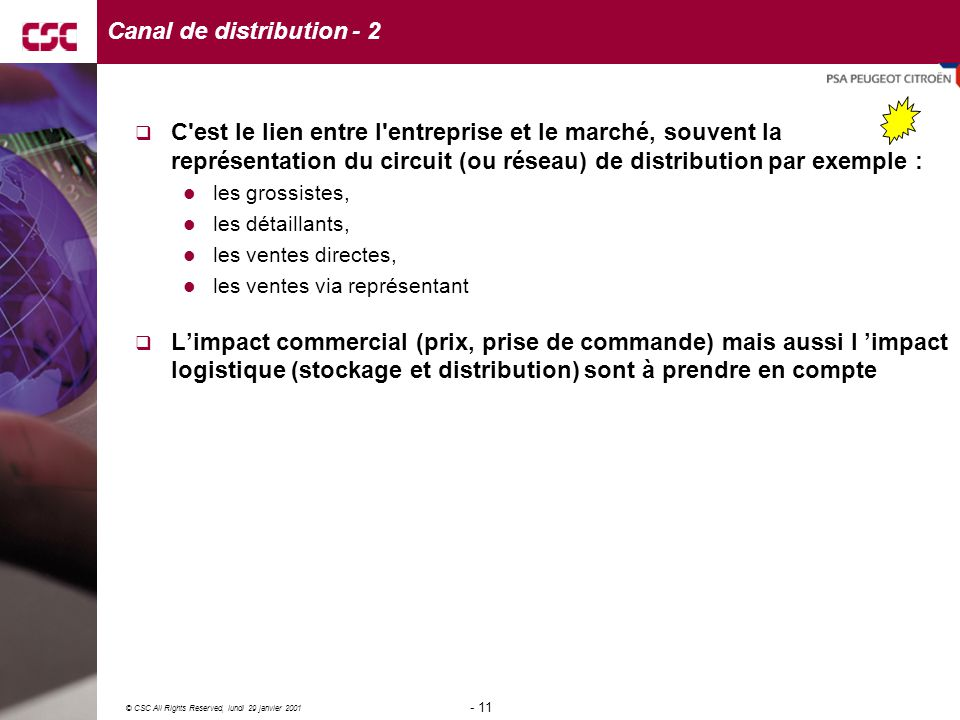 Canal de distribution - 2
