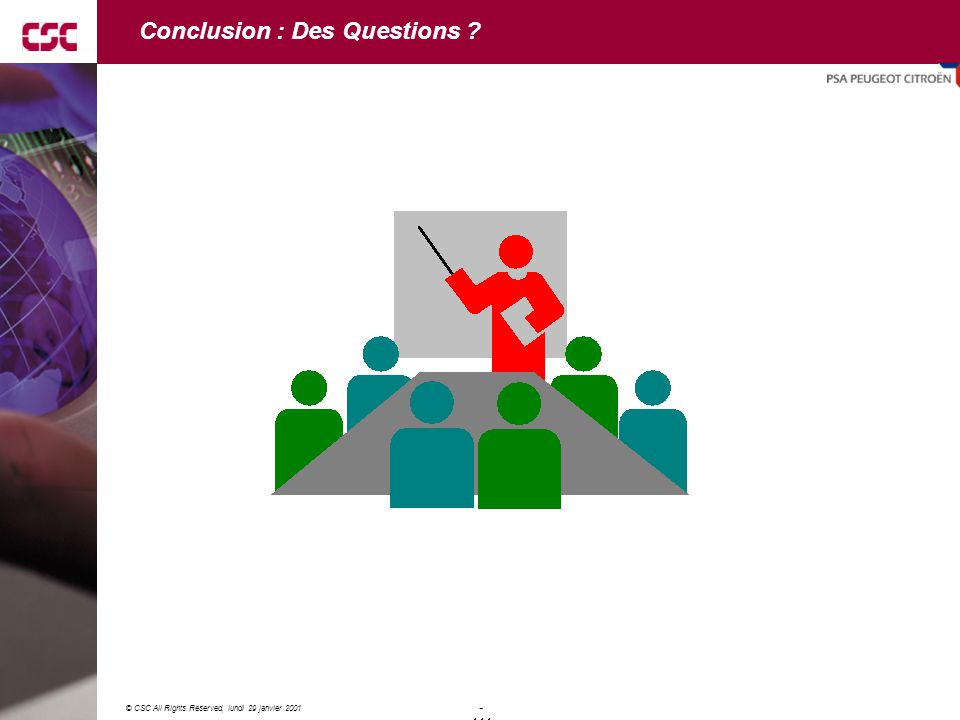 Conclusion : Des Questions