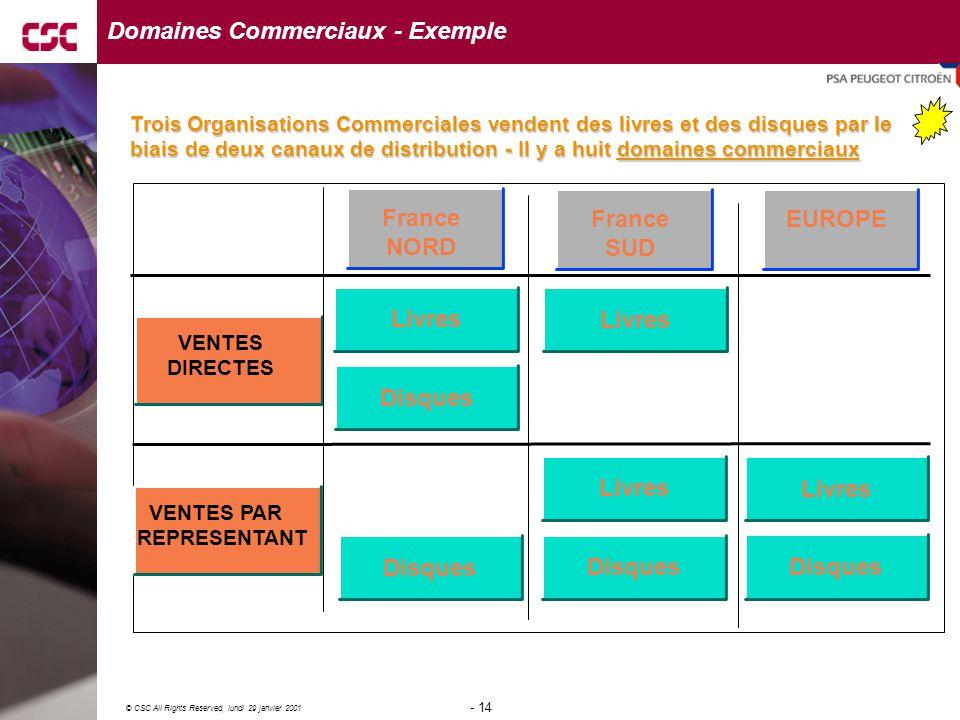 Domaines Commerciaux - Exemple