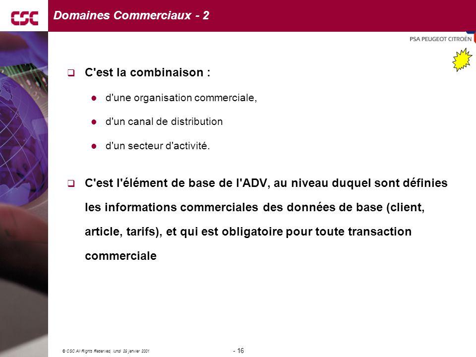 Domaines Commerciaux - 2