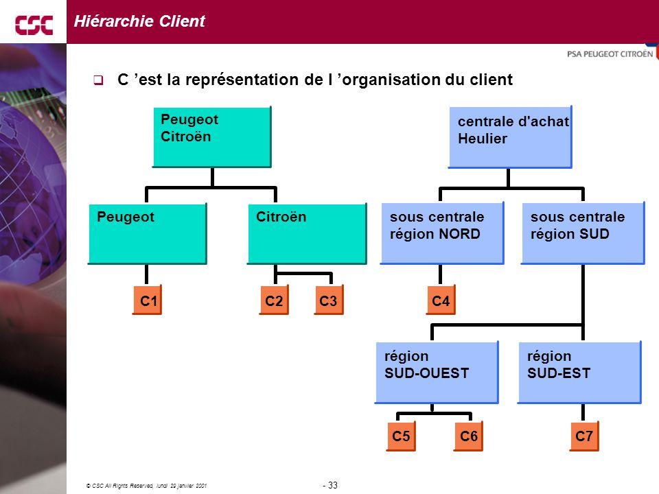 C 'est la représentation de l 'organisation du client