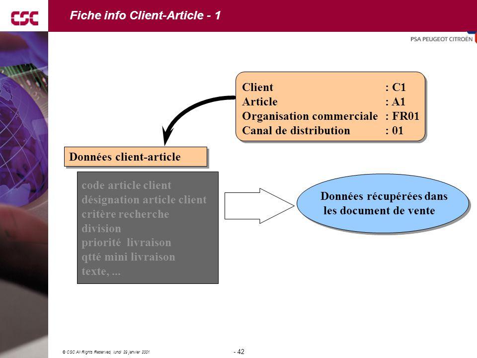Fiche info Client-Article - 1