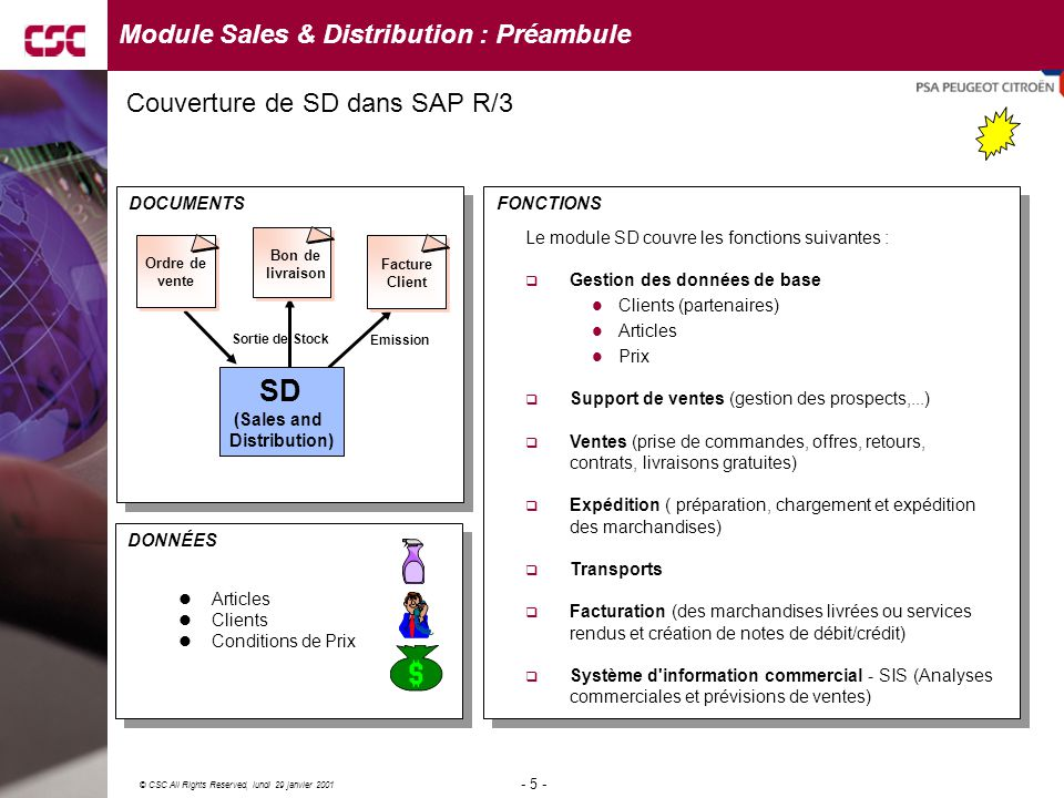 Module Sales & Distribution : Préambule