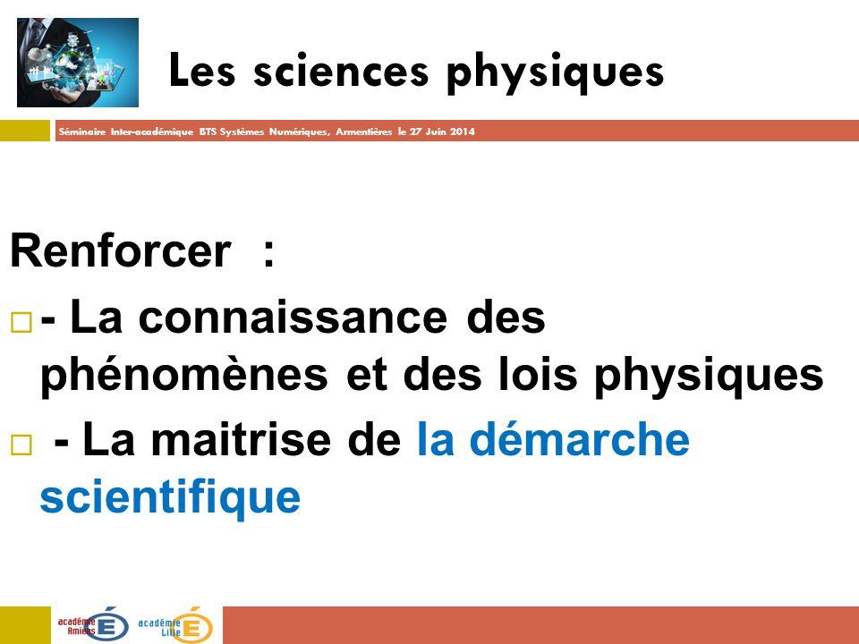 Les sciences physiques