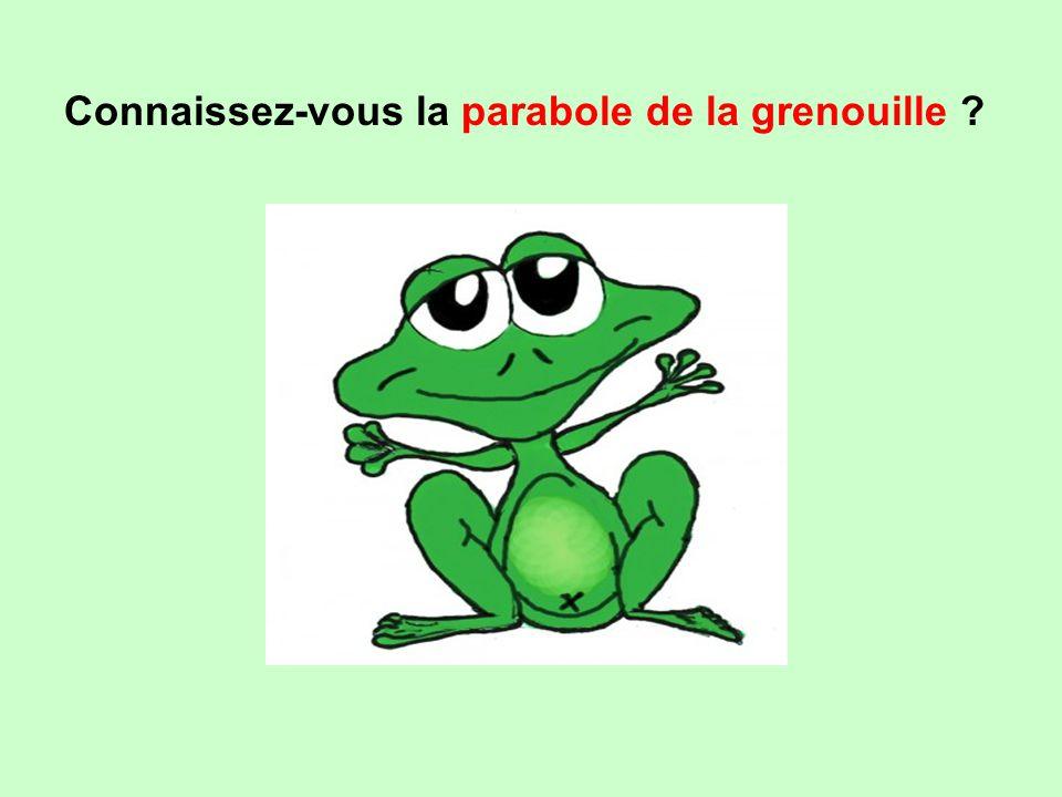 Connaissez-vous la parabole de la grenouille