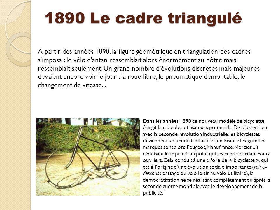 1890 Le cadre triangulé