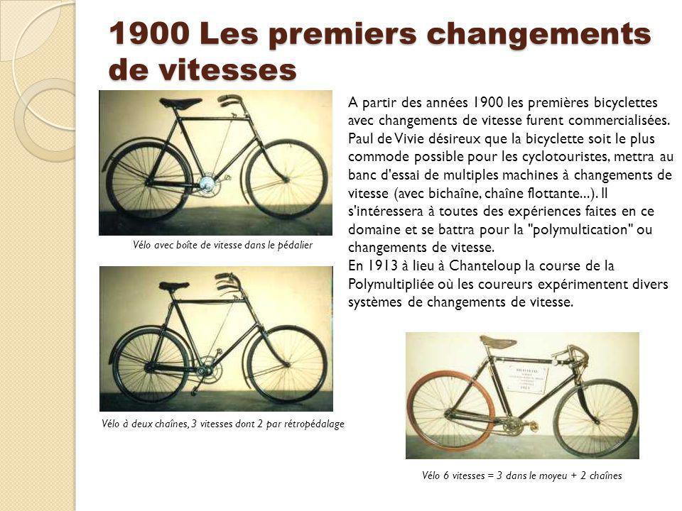 1900 Les premiers changements de vitesses