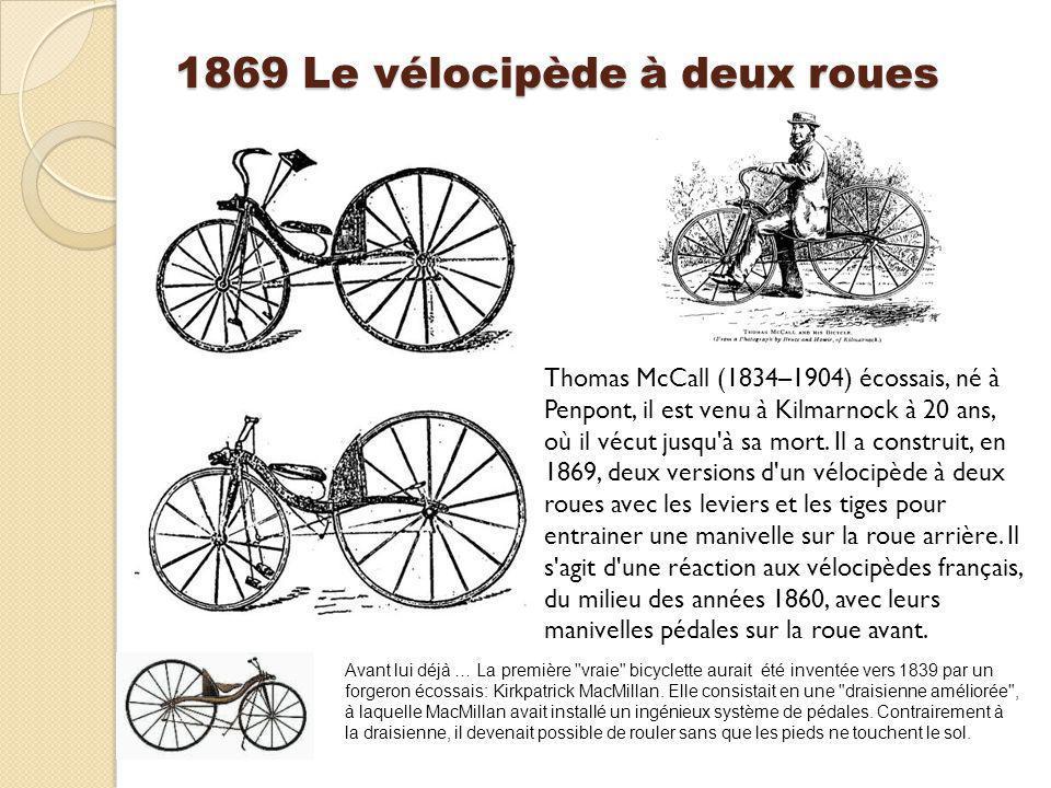 1869 Le vélocipède à deux roues