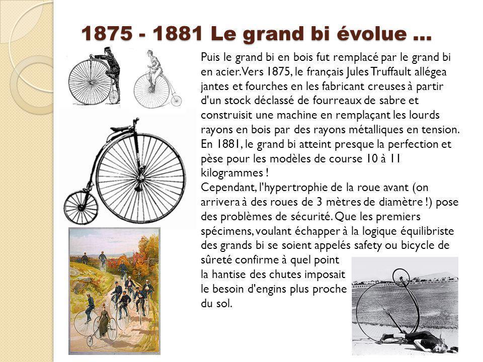 1875 - 1881 Le grand bi évolue …