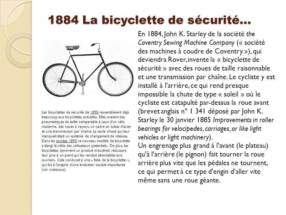 1884 La bicyclette de sécurité…