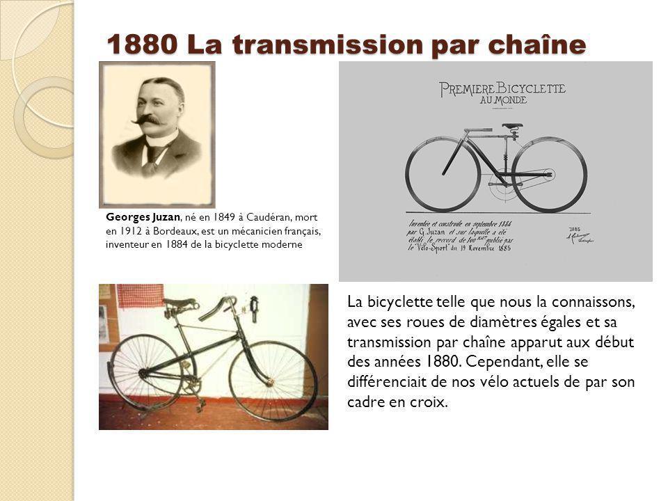 1880 La transmission par chaîne