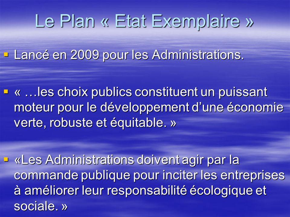 Le Plan « Etat Exemplaire »