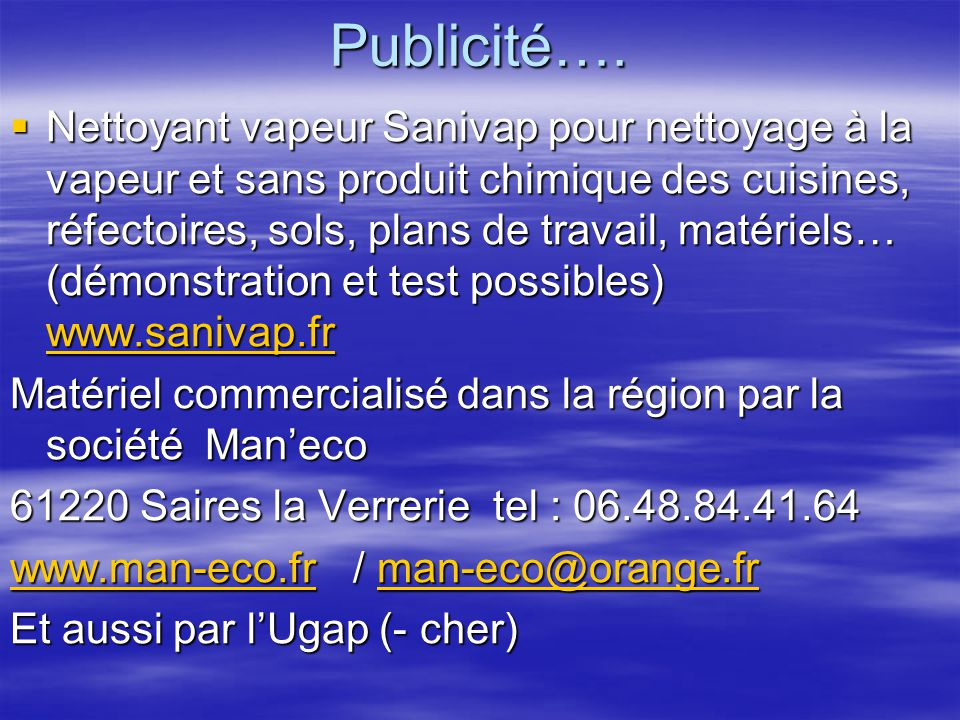 Publicité….