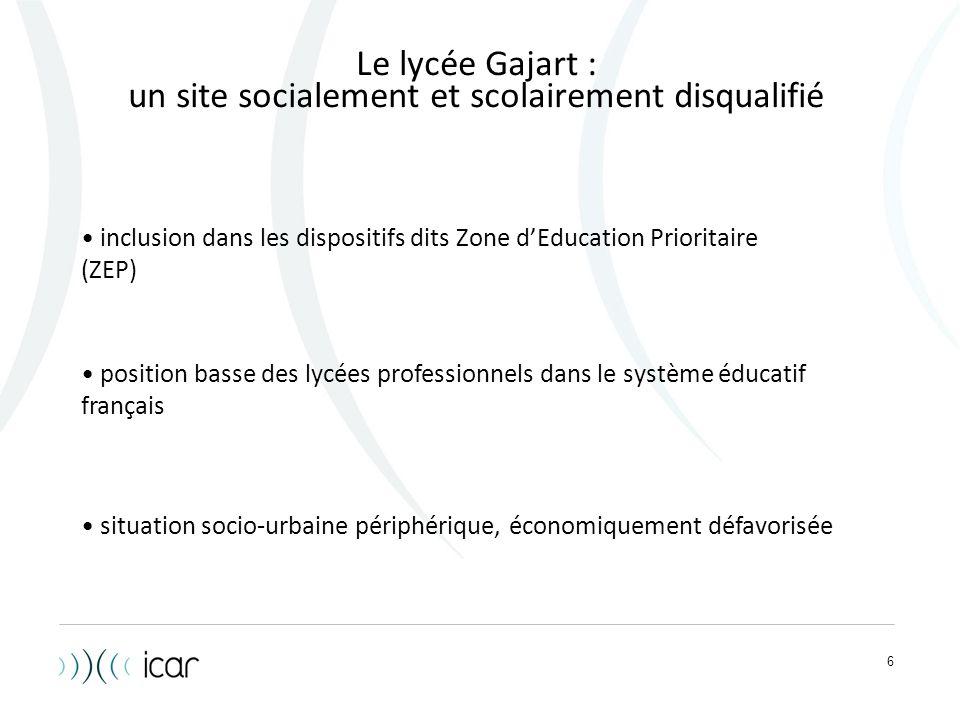 un site socialement et scolairement disqualifié