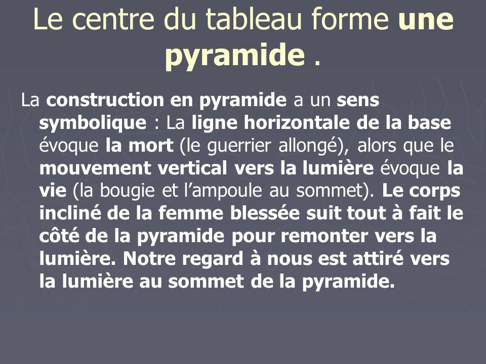 Le centre du tableau forme une pyramide .