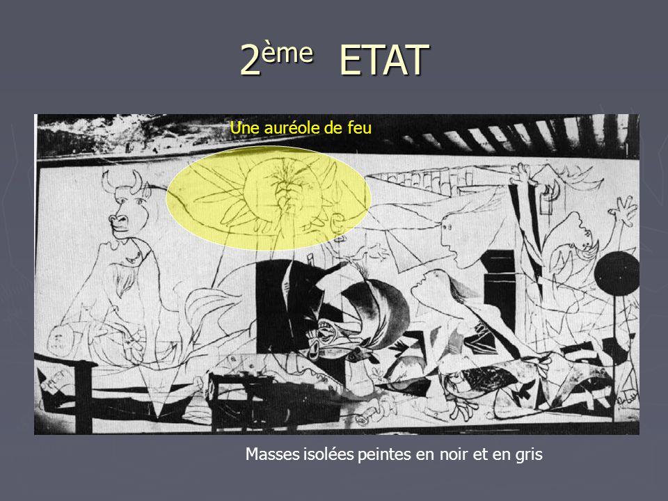2ème ETAT Une auréole de feu Masses isolées peintes en noir et en gris