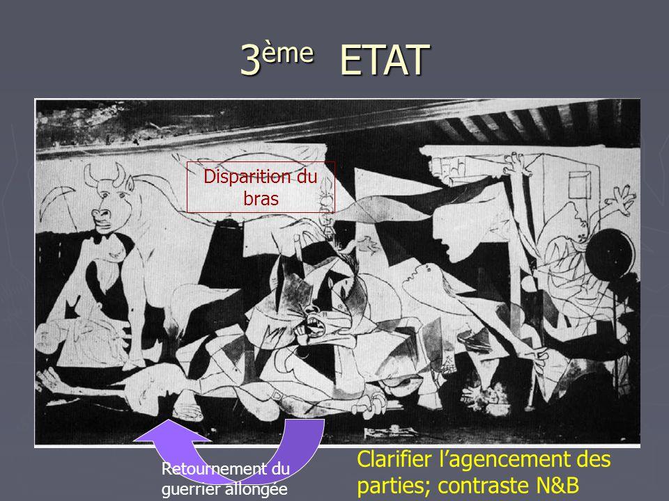 3ème ETAT Clarifier l'agencement des parties; contraste N&B