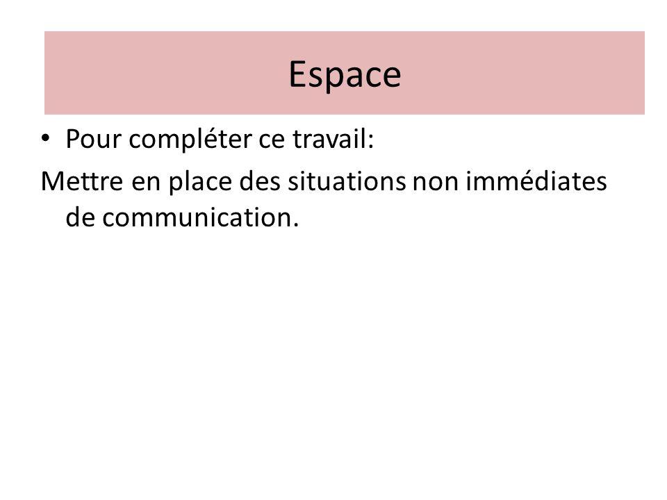 Espace Espace Pour compléter ce travail: