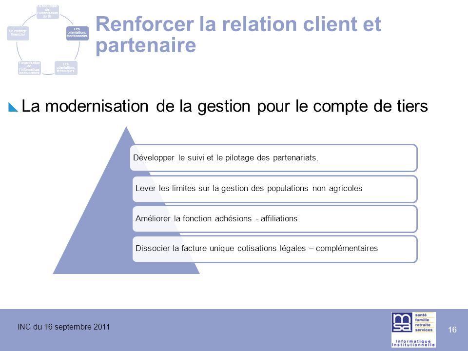 Renforcer la relation client et partenaire