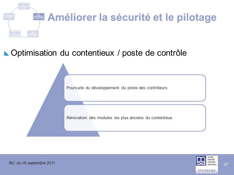 Améliorer la sécurité et le pilotage
