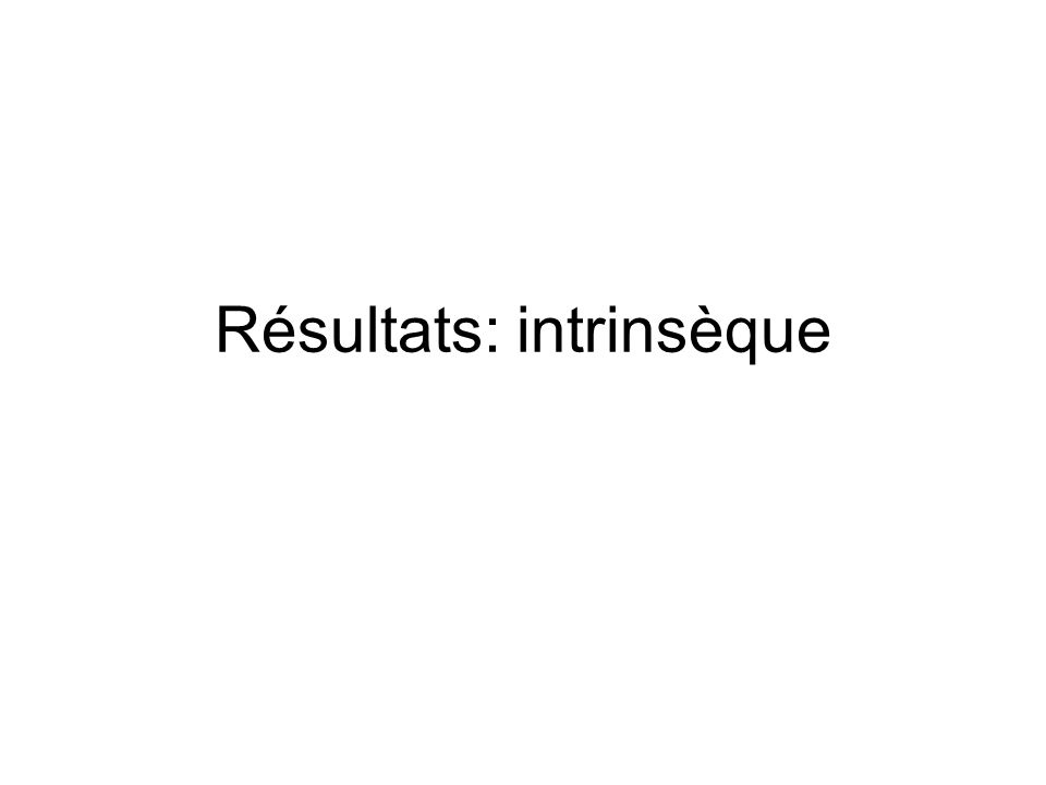 Résultats: intrinsèque