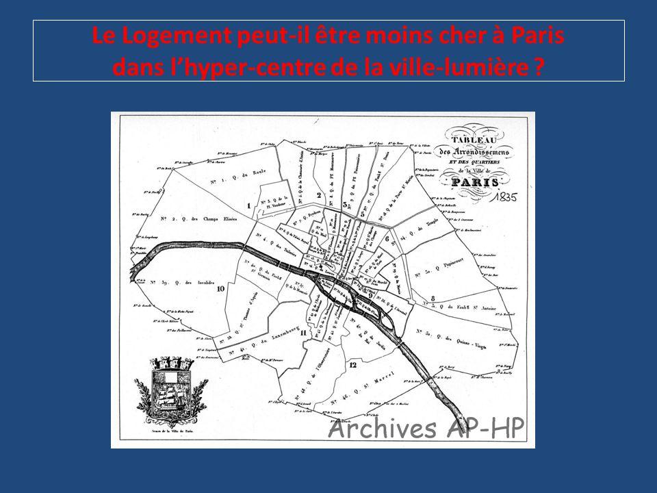 Le Logement peut-il être moins cher à Paris dans l'hyper-centre de la ville-lumière