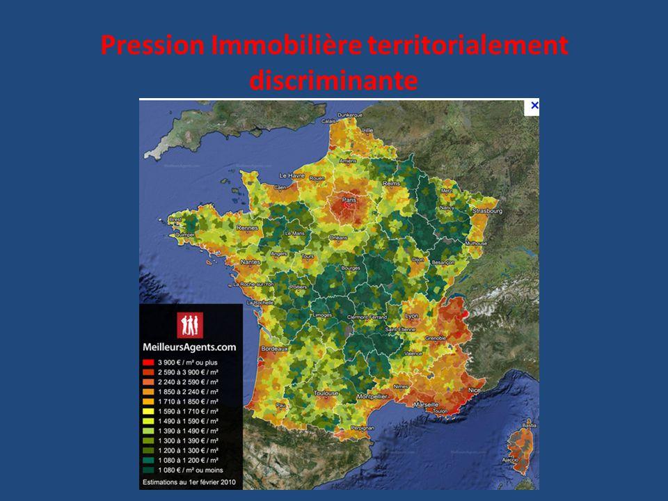 Pression Immobilière territorialement discriminante