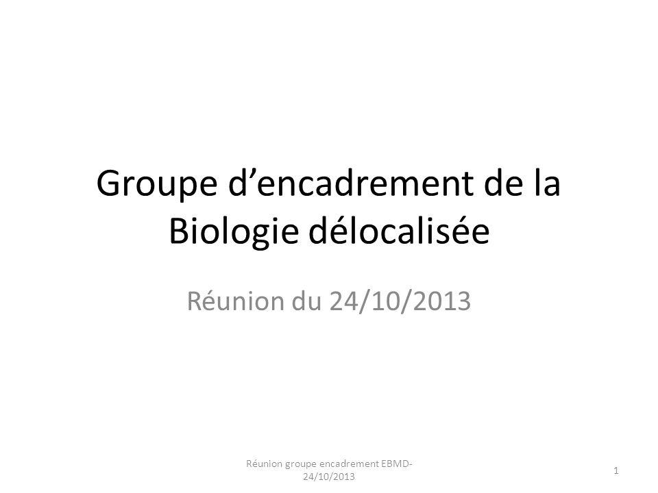 Groupe d'encadrement de la Biologie délocalisée