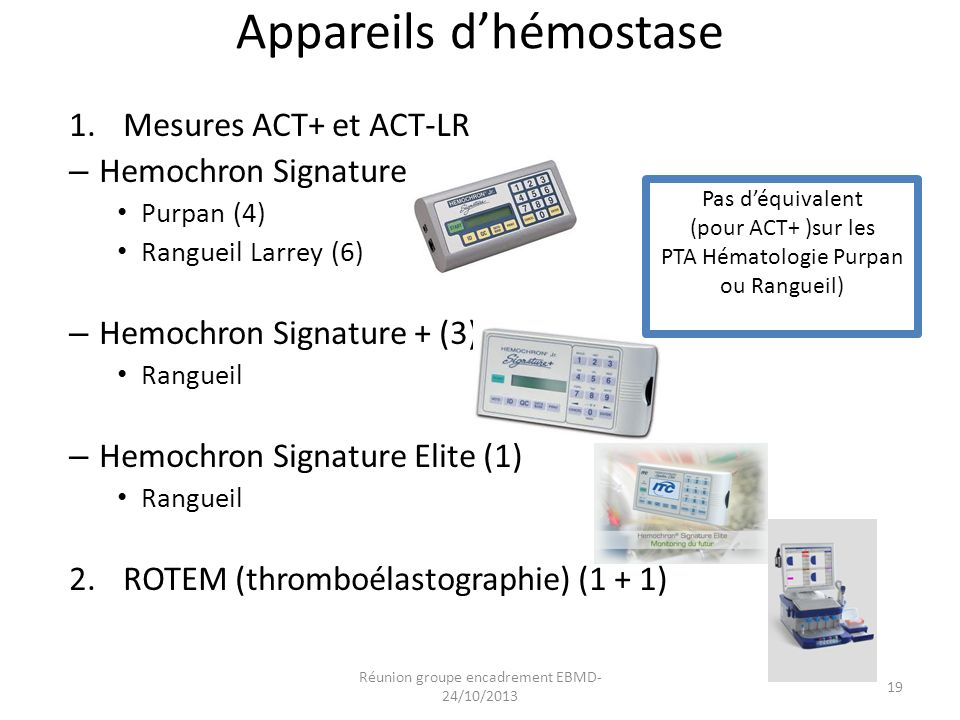 Appareils d'hémostase