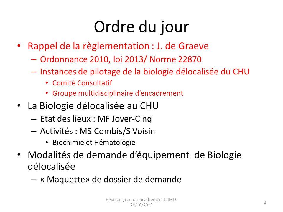 Réunion groupe encadrement EBMD-24/10/2013