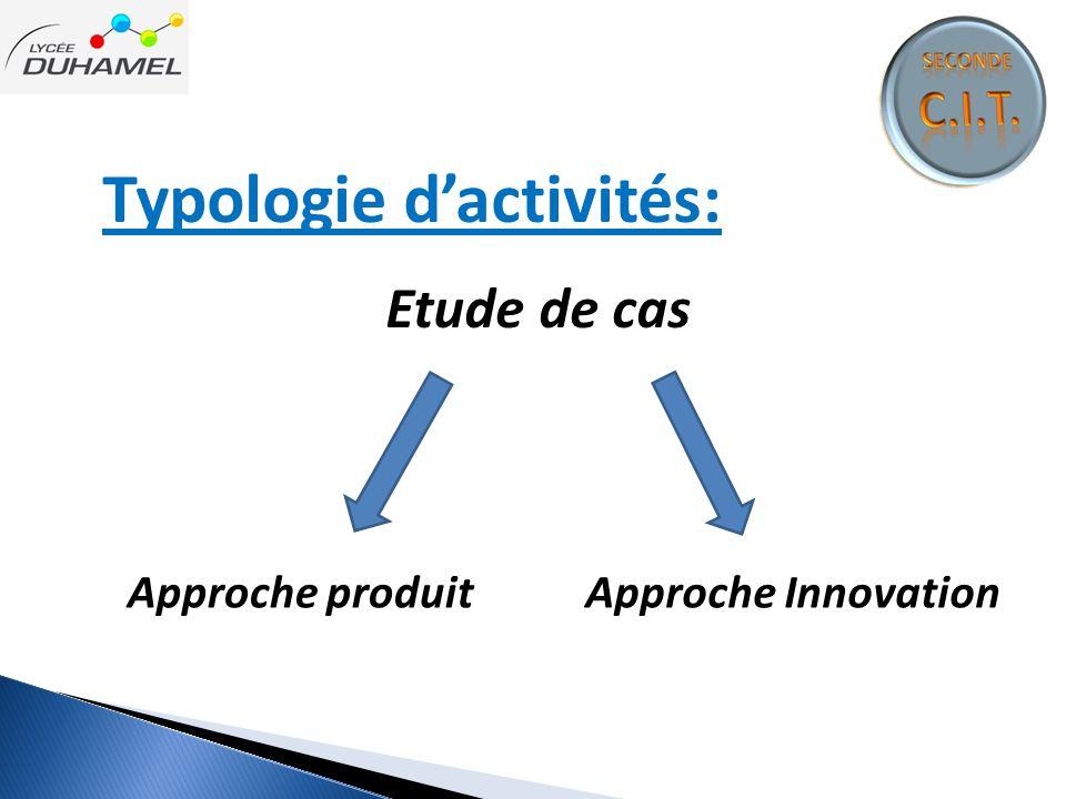 Typologie d'activités: