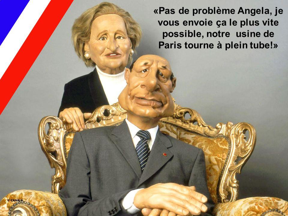 «Pas de problème Angela, je vous envoie ça le plus vite possible, notre usine de Paris tourne à plein tube!»
