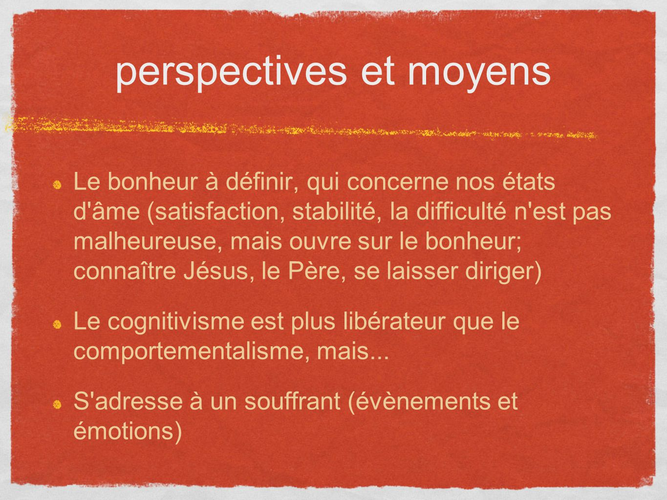 perspectives et moyens