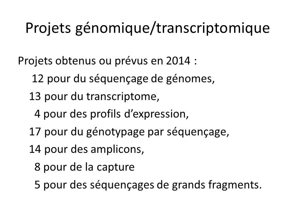 Projets génomique/transcriptomique