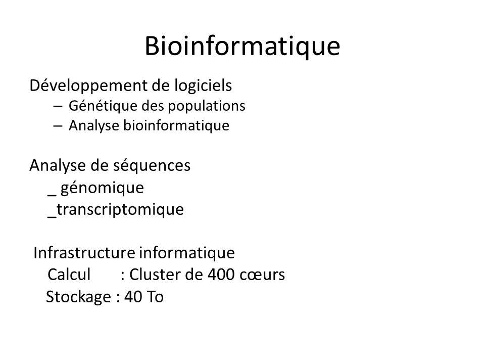 Bioinformatique Développement de logiciels Analyse de séquences