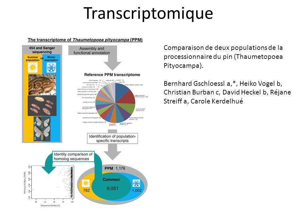 Transcriptomique Comparaison de deux populations de la processionnaire du pin (Thaumetopoea. Pityocampa).