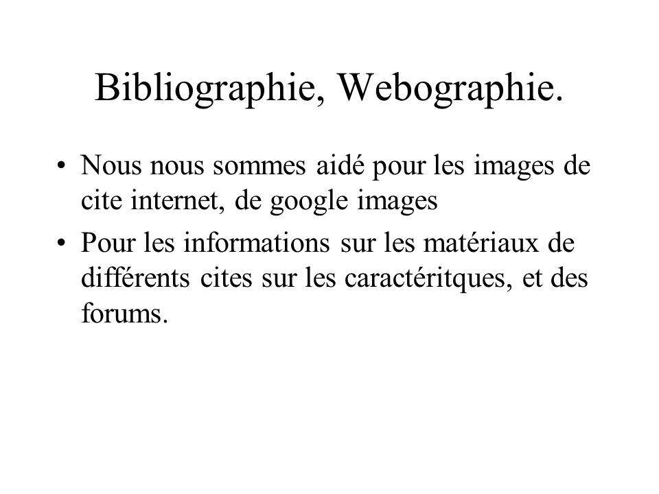 Bibliographie, Webographie.