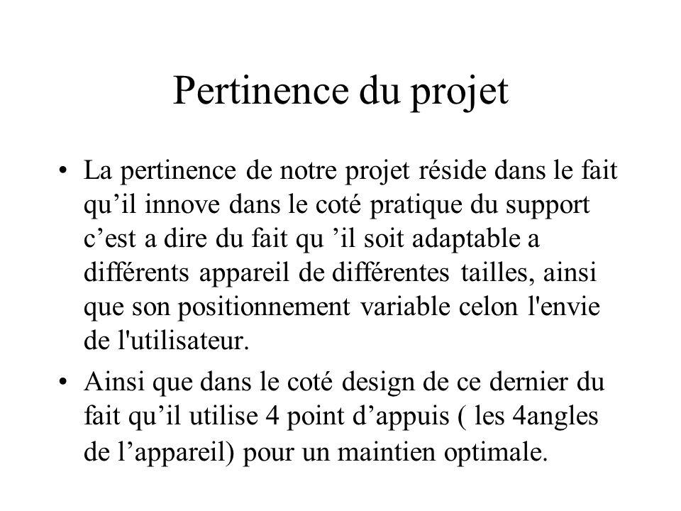 Pertinence du projet