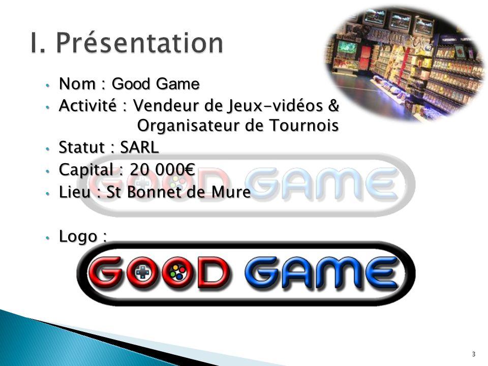 I. Présentation Nom : Good Game