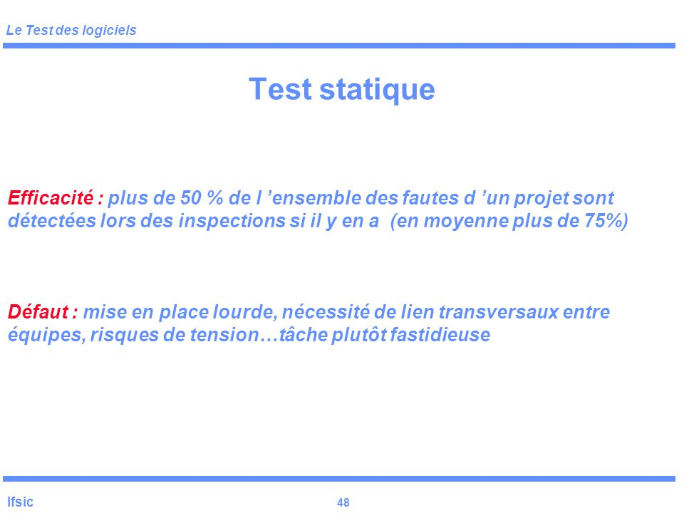 Test statique