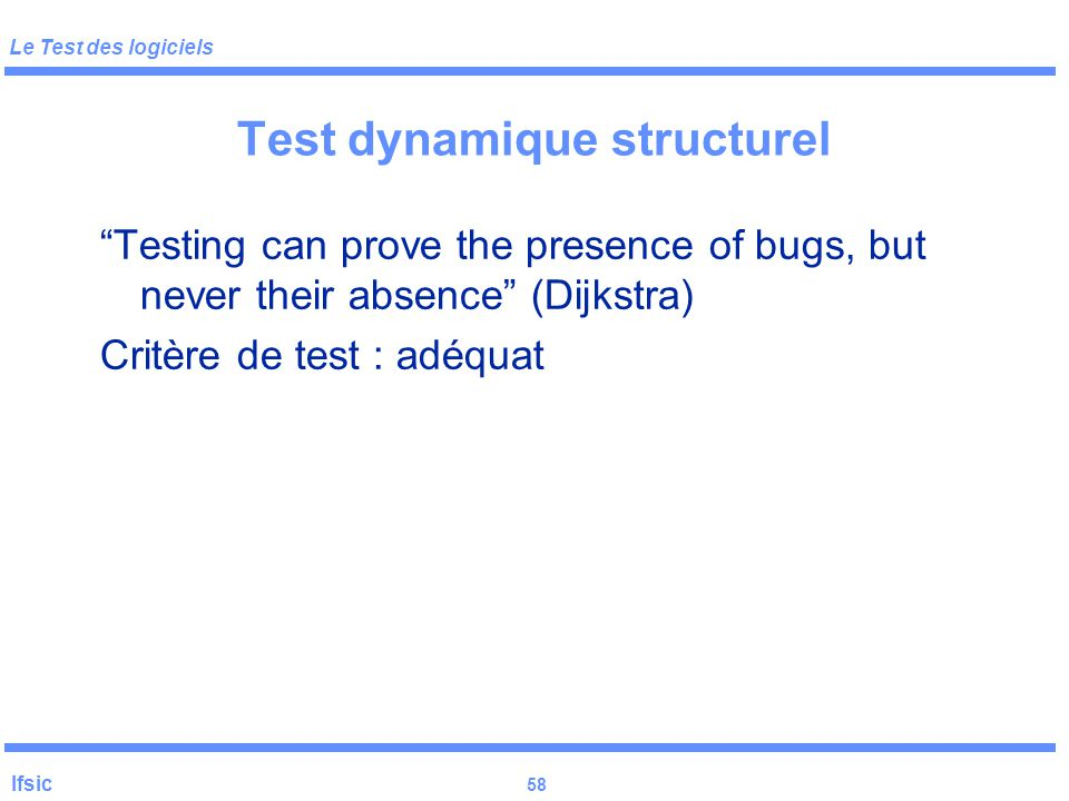 Test dynamique structurel
