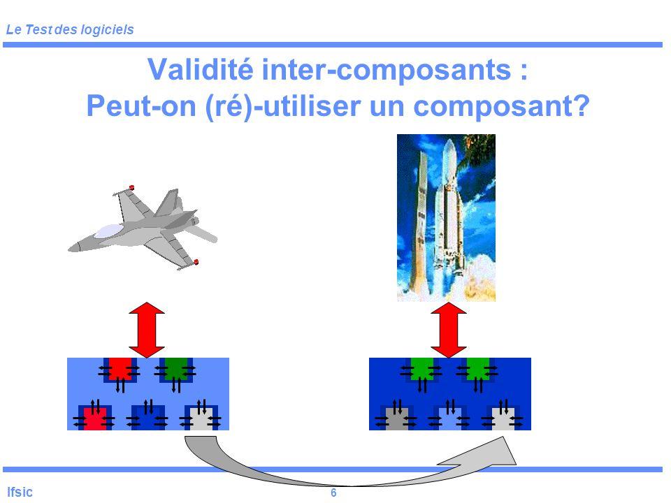 Validité inter-composants : Peut-on (ré)-utiliser un composant