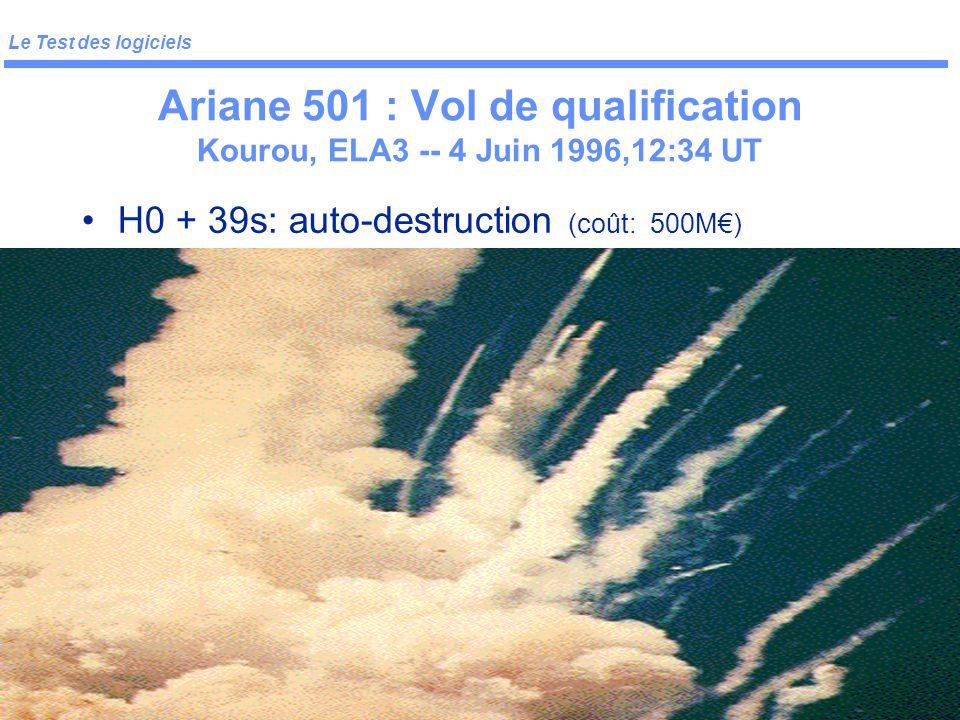 Ariane 501 : Vol de qualification Kourou, ELA3 -- 4 Juin 1996,12:34 UT