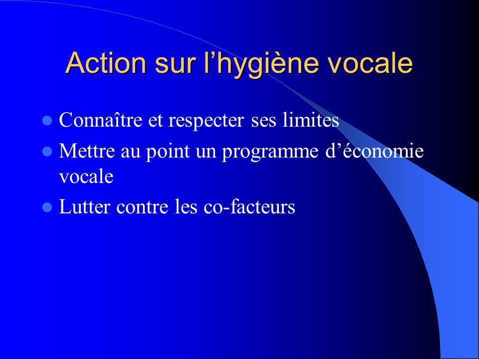 Action sur l'hygiène vocale