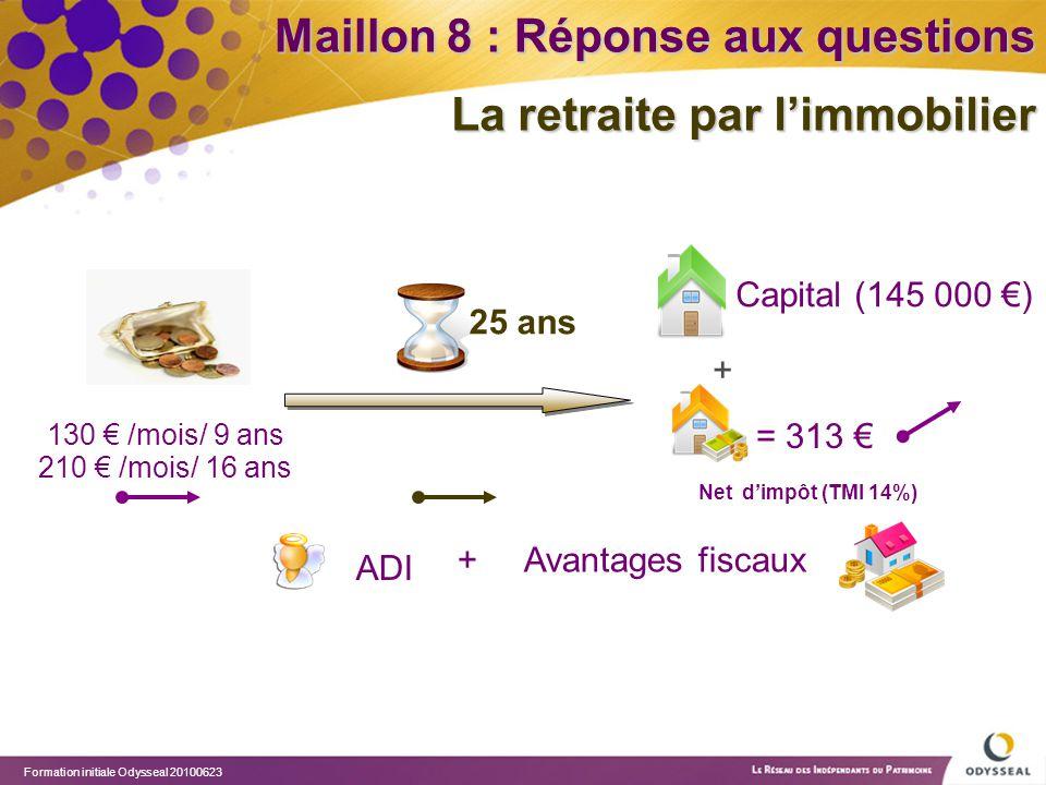 Maillon 8 : Réponse aux questions