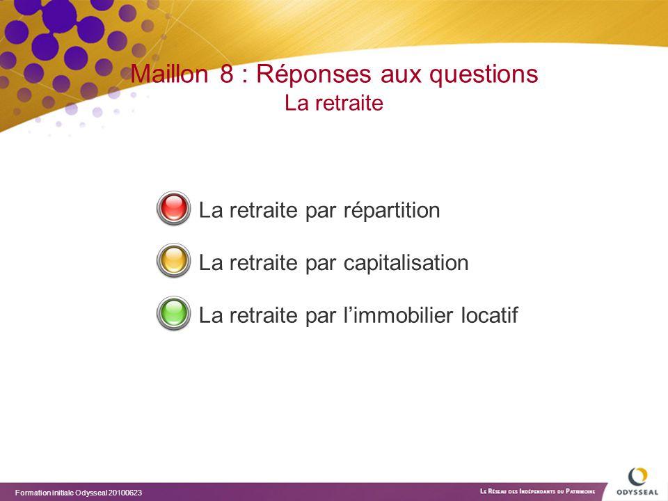Maillon 8 : Réponses aux questions La retraite