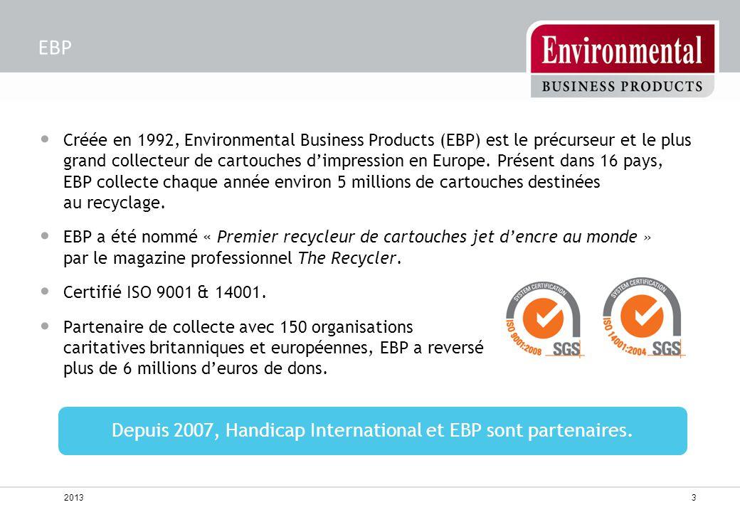 Depuis 2007, Handicap International et EBP sont partenaires.