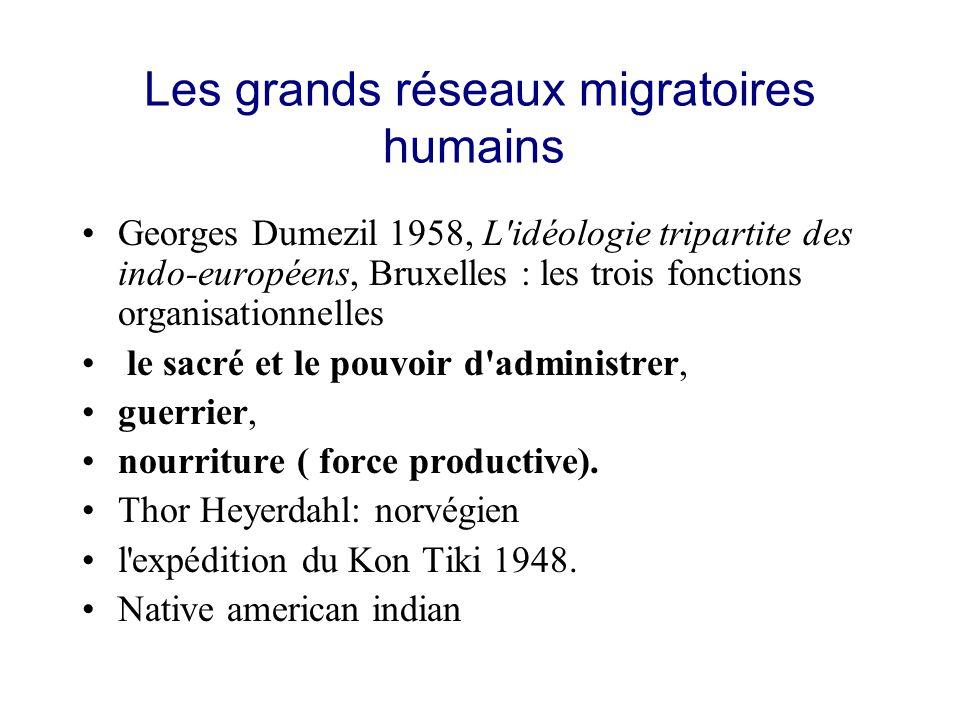 Les grands réseaux migratoires humains